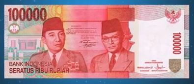 uang kertas rupiah 100ribu