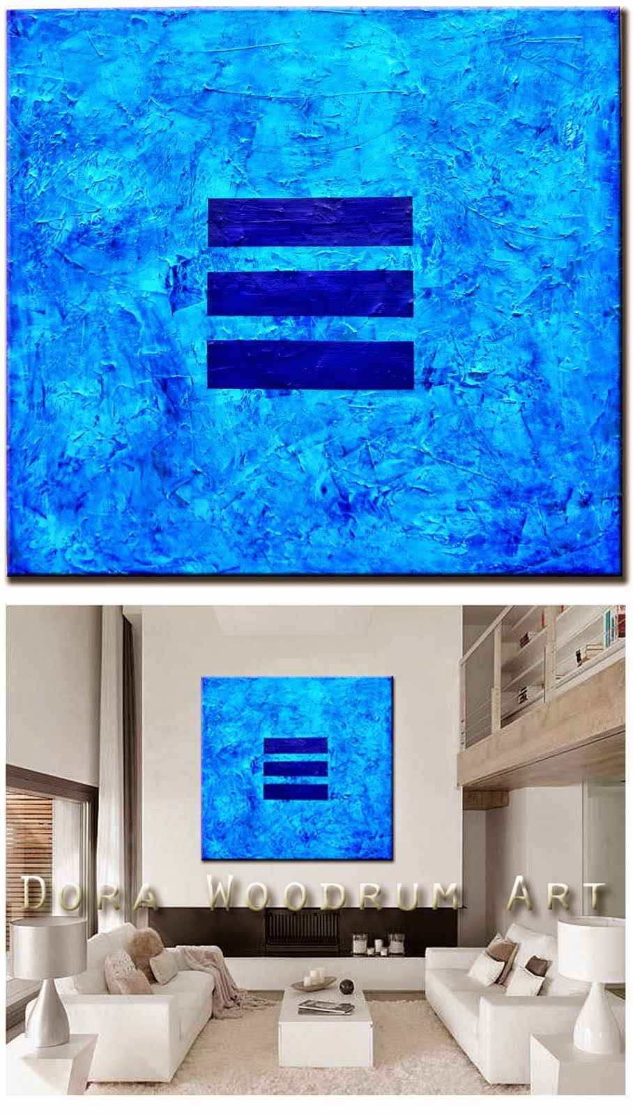 "Abstract Painting ""Blue Vision"" by Dora Woodrum"