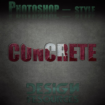 11 Concrete Photoshop Styles