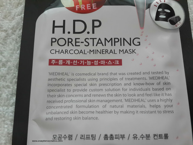 charcoal sheet mask in Singapore