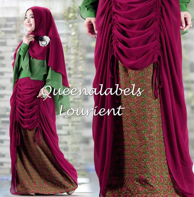 Model Baju Muslim Batik Terbaru 2015
