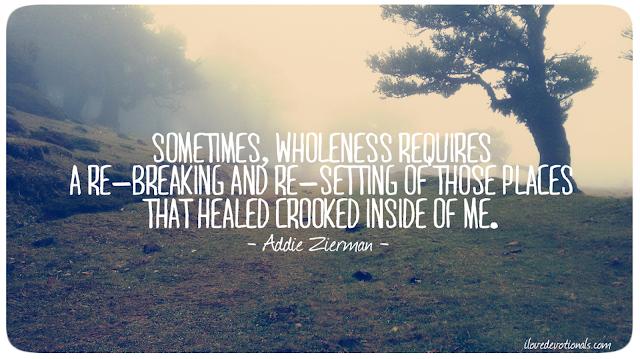 Addie Zierman quote on healing