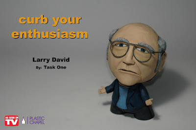 """As Seen On TV"" Solo Custom Art Show by Task One - Curb Your Enthusiasm Larry David Custom Munny Vinyl Figure"