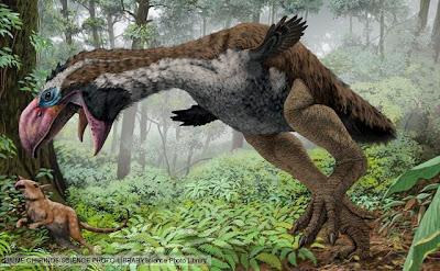 aves prehistoricas de Europa Gastornis