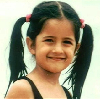 Childhood pictures of bollywood stars Katrina Khaif