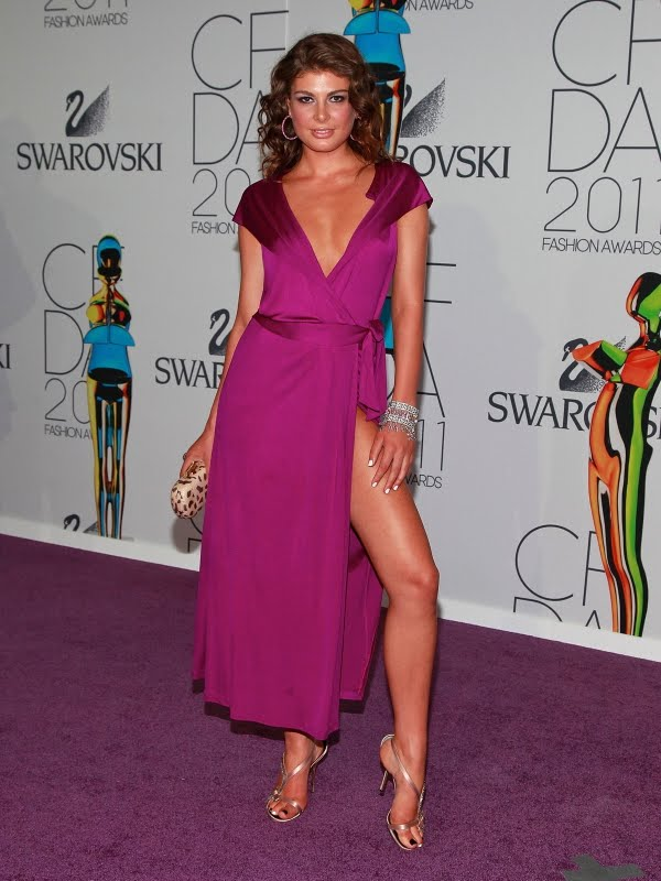 Angela Martini Pussy Flash at the CFDA Fashion Awards
