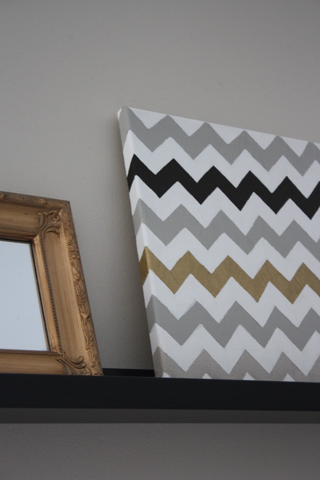A Simple Kind Of Life How To Chevron Painted Canvas
