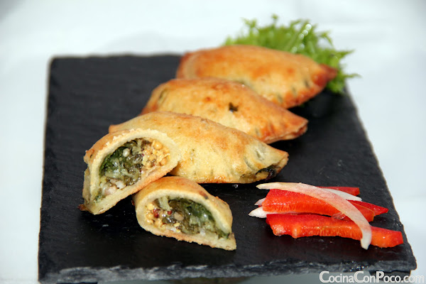 Empanadillas de Acelgas y mostaza - Receta paso a paso - Sin Gluten