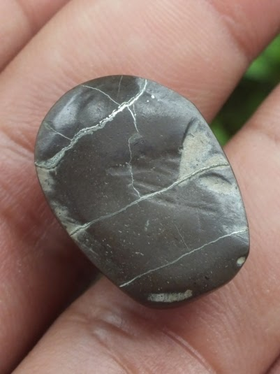 natural pyritized agate