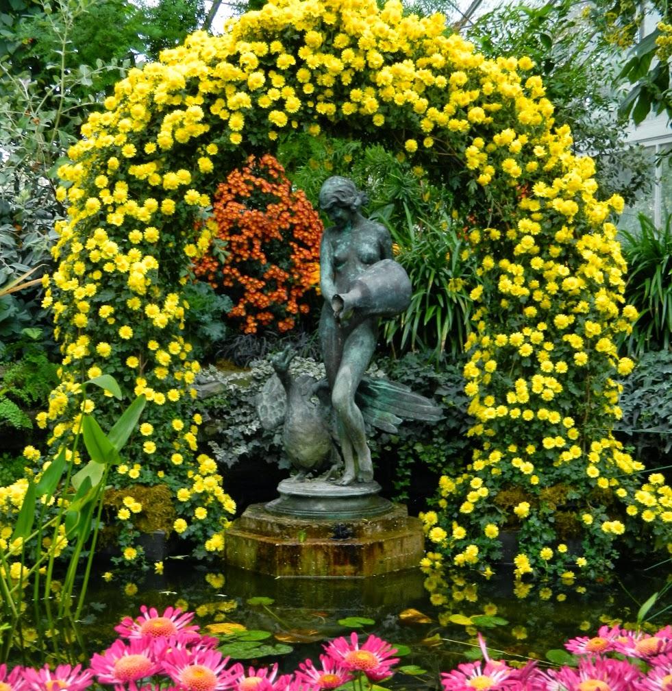 Allan Gardens Conservatory Chrysanthemum Show 2013 Leda fountain by garden muses-a Toronto gardening blog