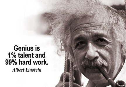 Genius Is 1 Talent And 99 Hard Work
