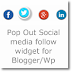 Pop Out Social media follow widget for Blogger/Wordpress