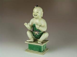 Kangxi famille verte statue