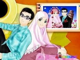 Gambar Kartun Romantis Islami Wallpaper Muslim