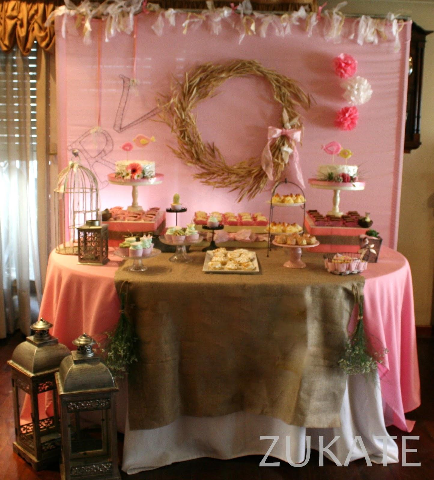 Zukate mesas dulces tem ticas for Decoracion 70 80