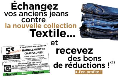 Auchan: Jusqu'à 5€ de réduction sur l'habillement et chaussures