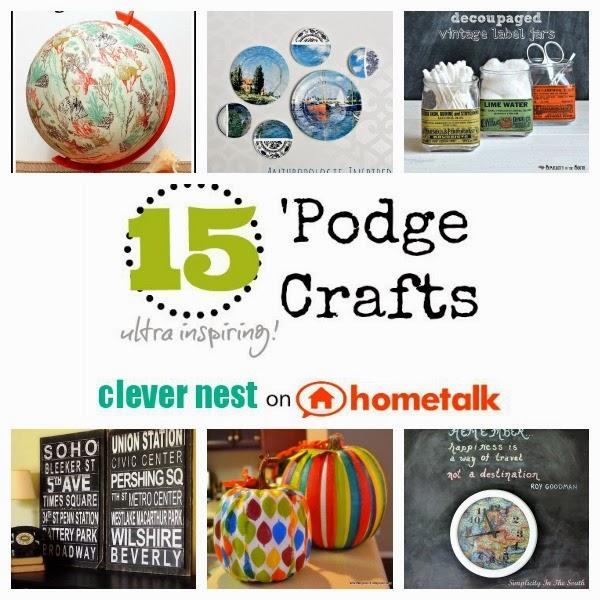 mod podge roundup #hometalk #clevernest #diy #yearofcrafts