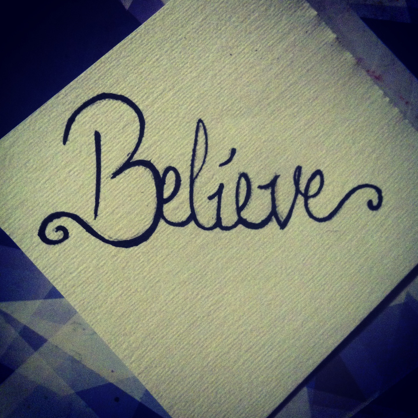 Have faith in yourself you can't have faith in