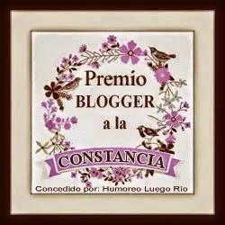 Premio Blogger a la Constancia