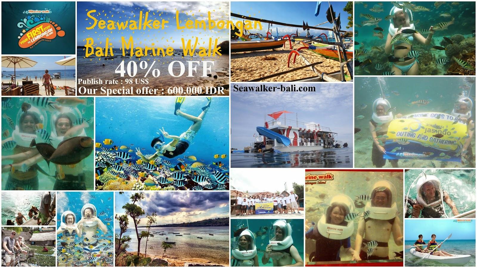 Paket Murah Sea Walker Nusa Lembongan Bali Marine Walk Disc 35 Liburan Di Lembungan Dan Tour Ke Penida Yg Eksotik 2 Hari 1 Malam Bayangkan Berjalan Dasar Laut Mengagumi Keindahan Taman Karang Warna Warni Bermain Dengan Ikan Beraneka Jenis Memberi Makan Langsung Dari
