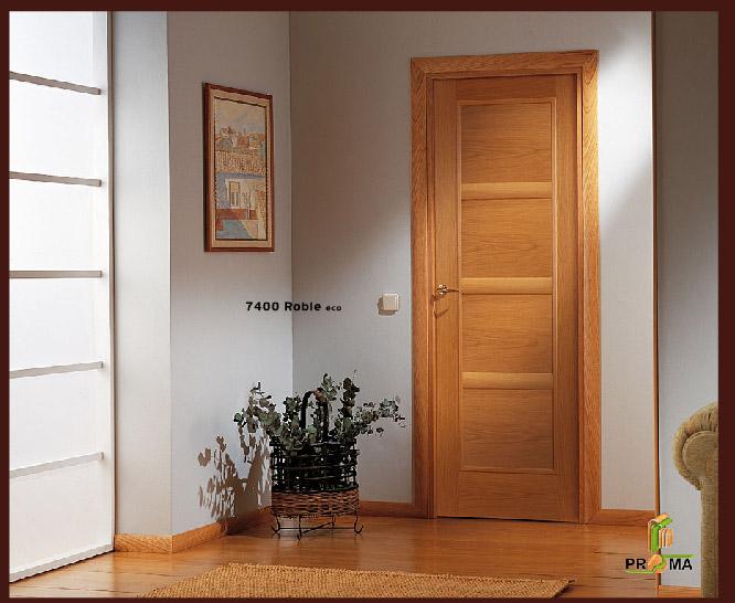Puerta 7400 en roble eco de la serie vega puertas proma - Puerta de roble ...