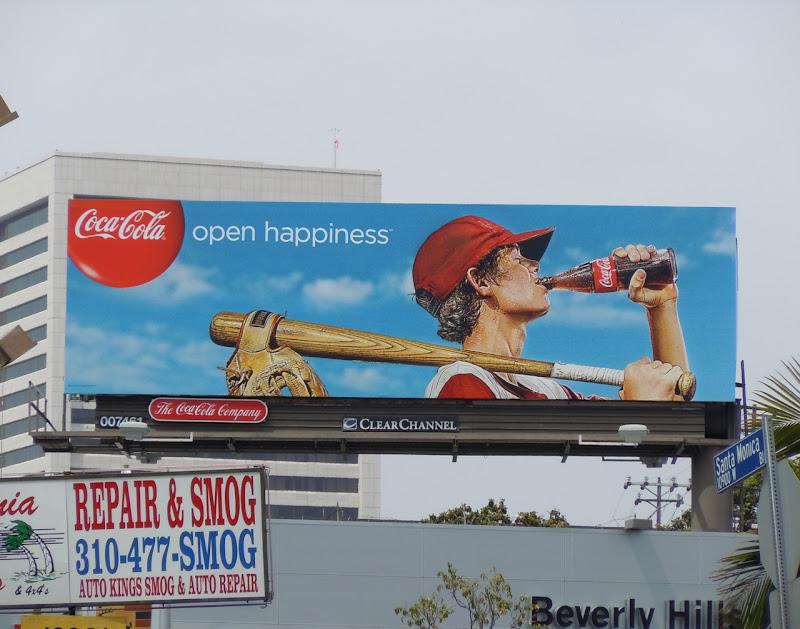 Coke baseball kid billboard