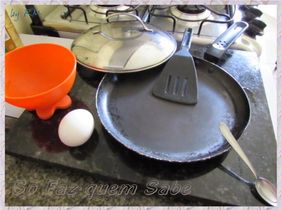 Coisas necessárias para fritar um ovo sem utilizar gordura.