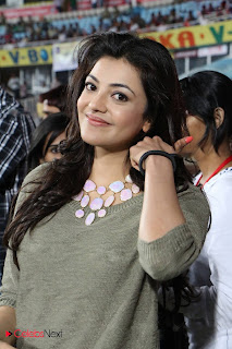 Kajal Aggarwal Latest Pictures in Pink Jeans at CCL 3 Semifinals  0014.jpg