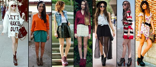 Looks com saias e vestidos e Lita Boots.
