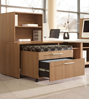 Padded Office Storage Bench