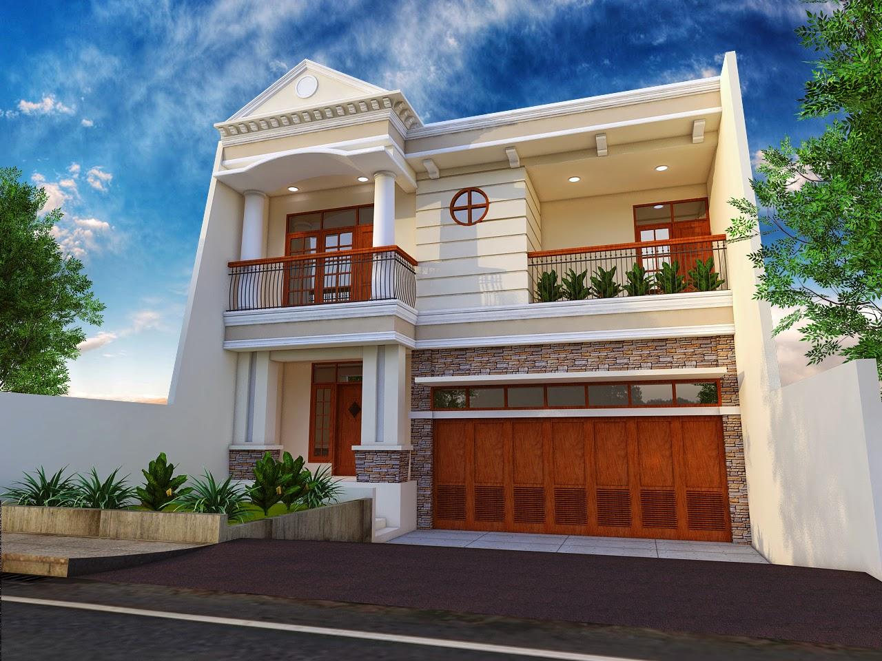 Gambar Rumah Klasik Modern Desain Minimalis Lantai 2 Tingkat