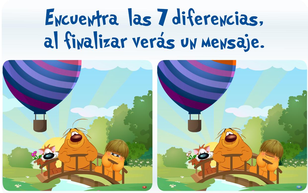 juego de buscar diferencias:
