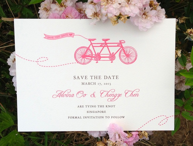 Kalo make art bespoke wedding invitation designs save the date my in house design spring ride together with some bespoke elements as their wedding invitation the invitation suite will include the save the date stopboris Choice Image