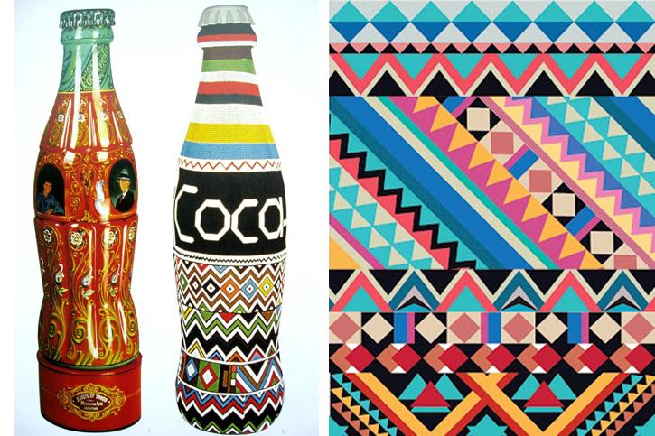 geometric ethnic desins, ethnic coca cola,