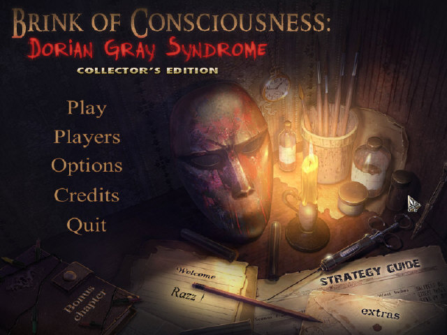 Brink of Consciousness: Dorian Gray Syndrome Collector's Edition Main Menu