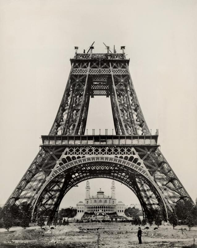Black And White Vintage Photos Of Eiffel Tower Vintage