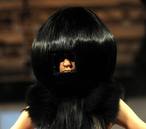 Really Cool Pictures: Weird Hair Style for Women Unique Person In A Crowd