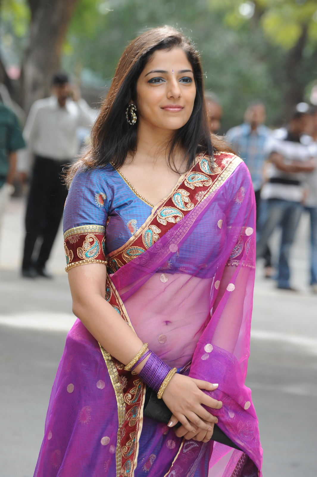 Cute nishanthi in a transparent saree