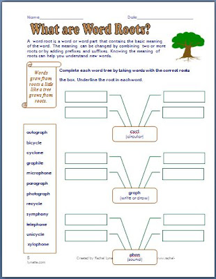 creating words from roots worksheet