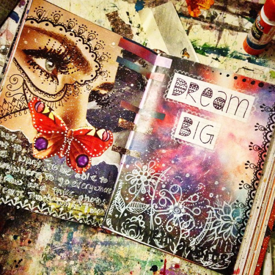 create more light  art journal pages as of lately