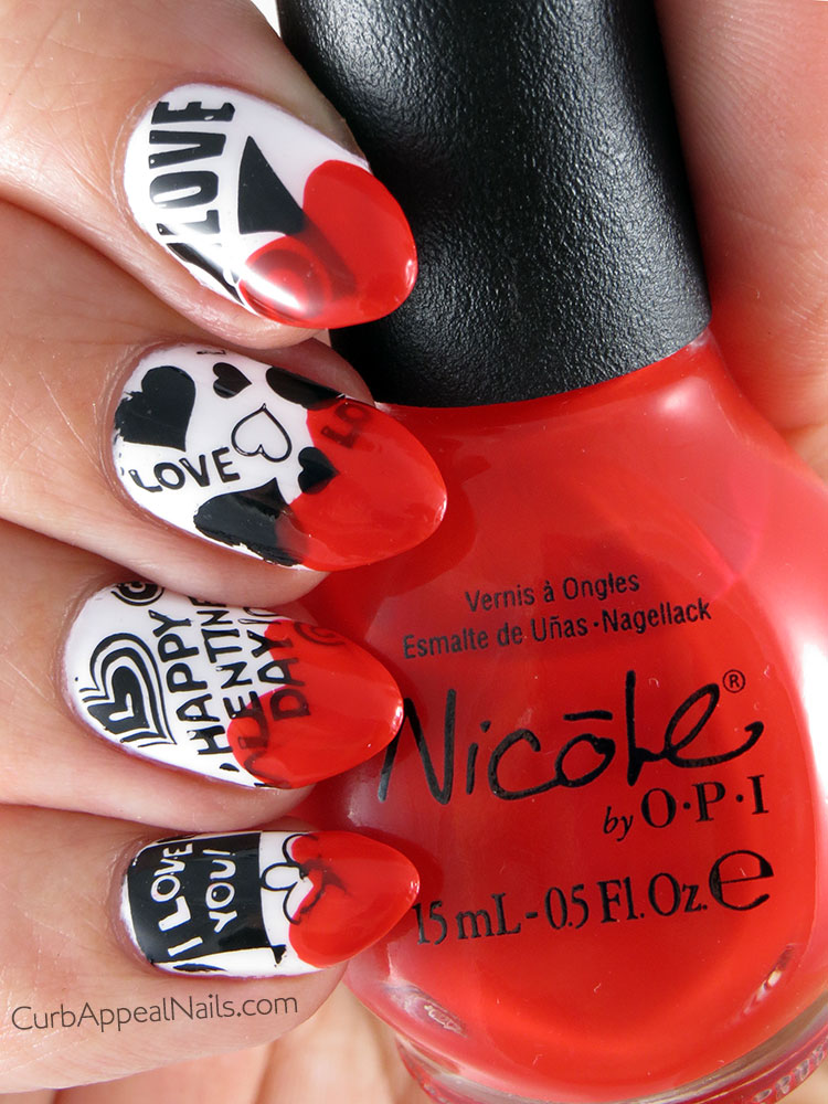 Valentine's Day Stamping Finale: Nicole by OPI Kourt is Red-y For a Pedi