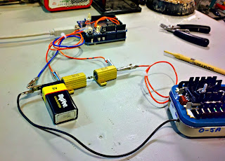 Medidor de capacidade de baterias com Arduino