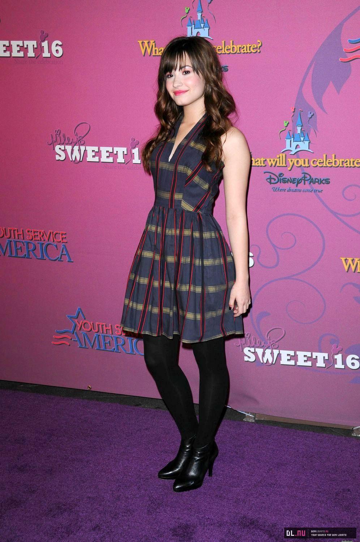 Red Carpet Dresses: Demi Lovato - Miley Cyrus\' Sweet 16 Celebration 2008