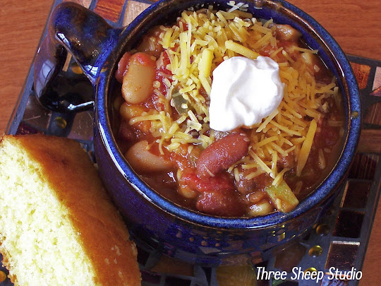 Hearty Vegetarian Chili, Cornbread