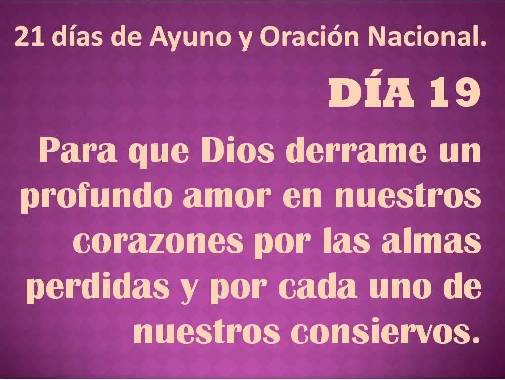 Oración del día 19.