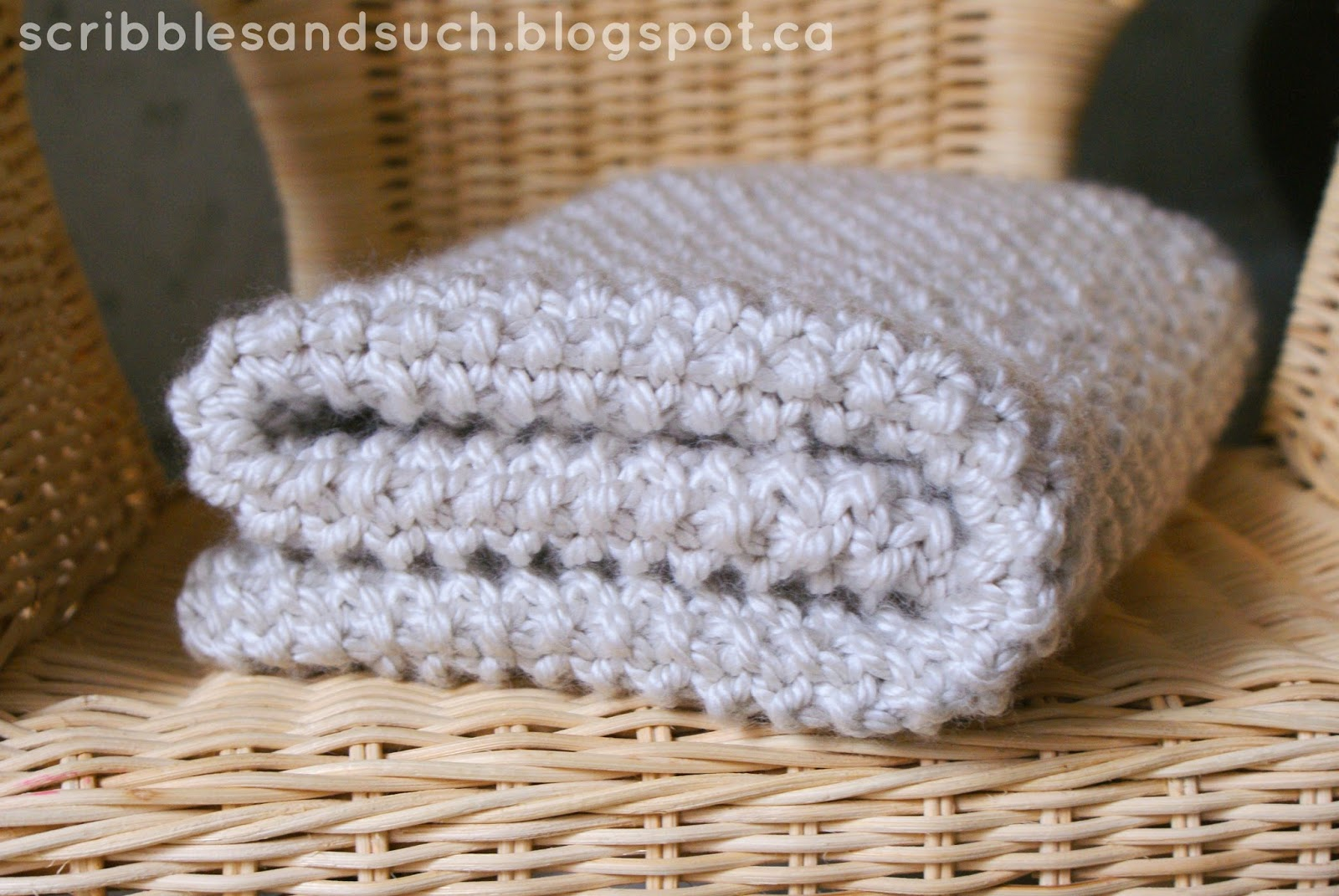 Chunky Baby Knitting Patterns Free : scribbles & such: Chunky Knitted Baby Blanket