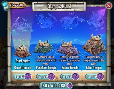 Hướng dẫn tổng hợp event Olympus Island trong game Dragon City