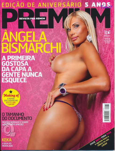 Confira as fotos da modelo Ângela Bismaarchi, capa da Sexy Premium de outubro de 2008!