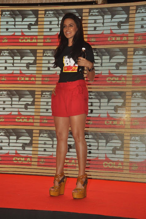 neha dhupia at the new logo launch of cola brand big cola. glamour  images