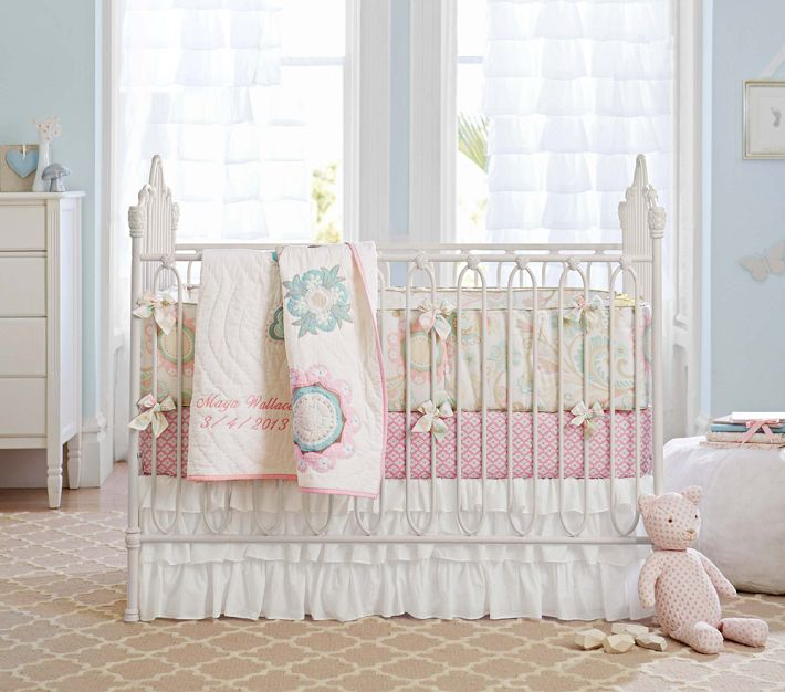 Baby Home Maya Fl Nursery Bedding Camden Pottery Barn Kids